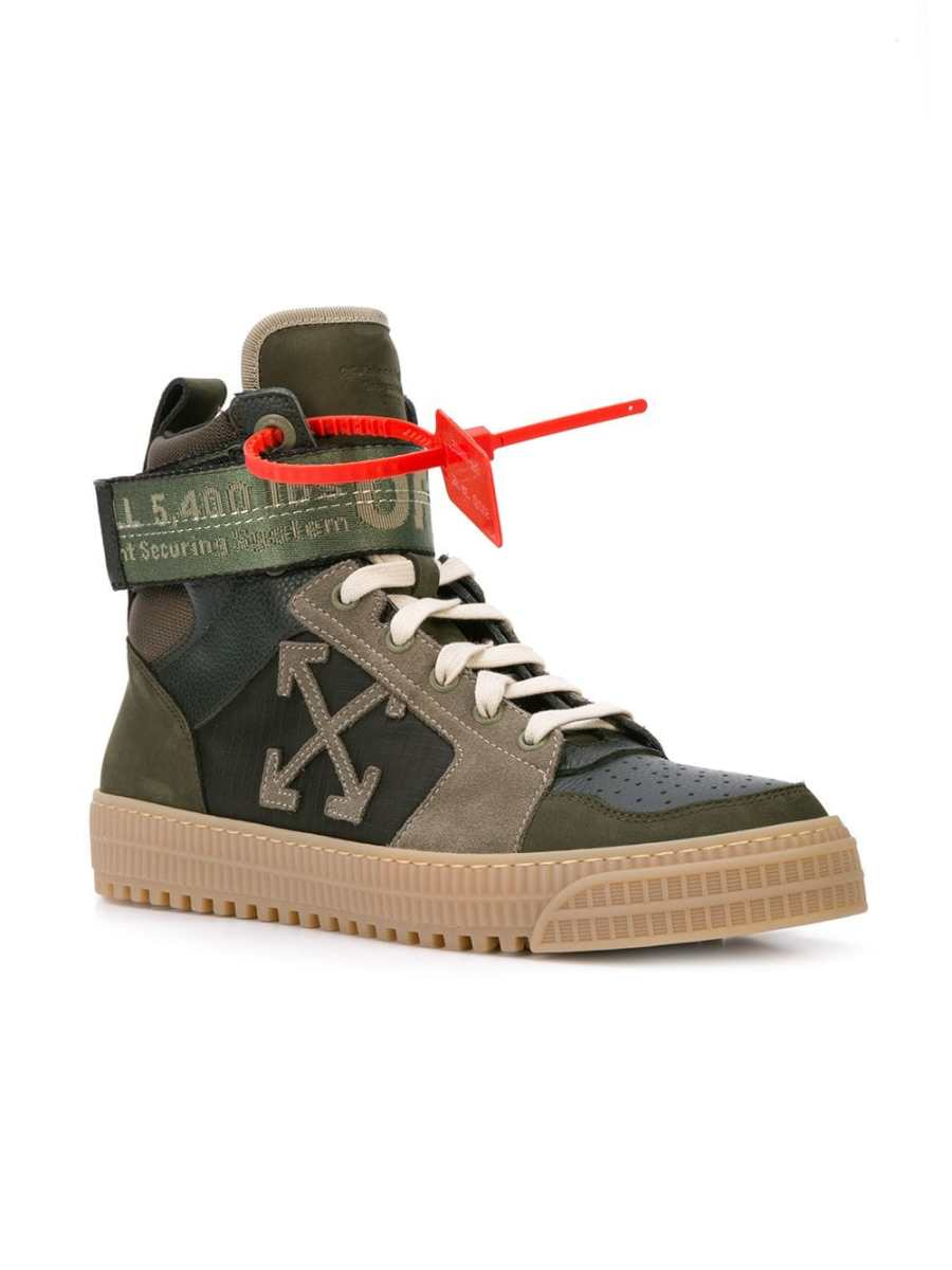 OFF-WHITE Industrial Mens Hi-Top Sneakers