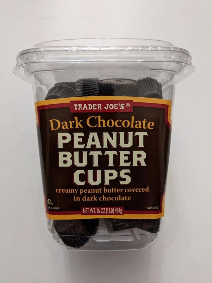 Trader Joe's Dark Chocolate Peanut Butter Cups (16 oz container)