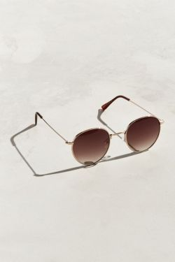 UO Metal Lennon Round Sunglasses from Urban Outfitters
