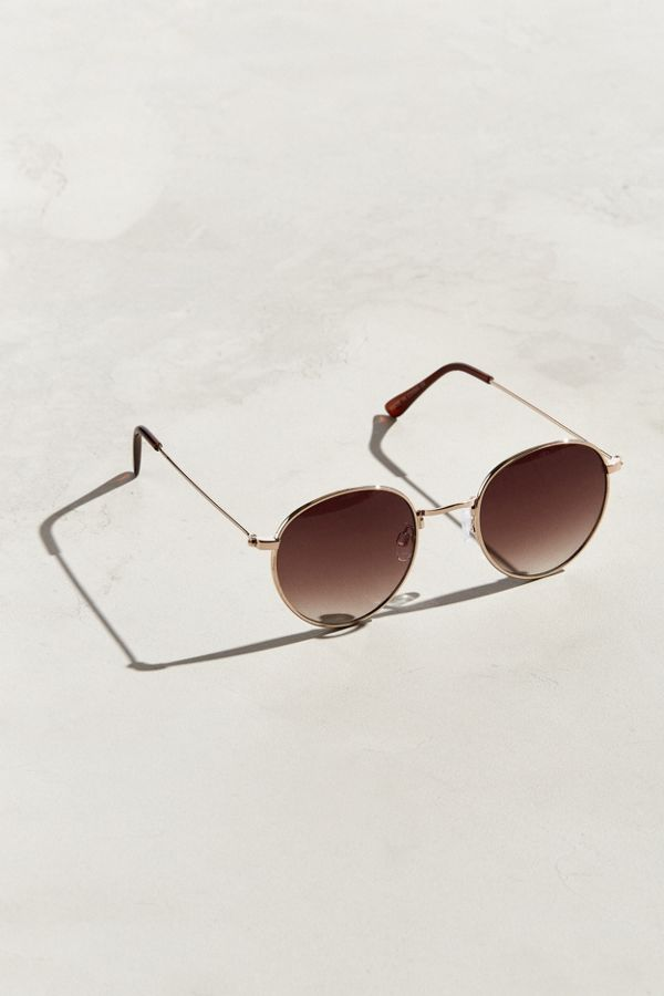 6f6e04c702d UO Metal Lennon Round Sunglasses from Urban Outfitters
