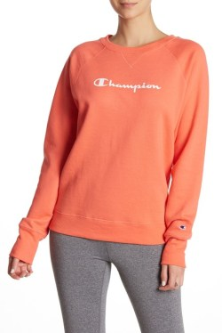 Champion Graphic Fleece Boyfriend Crew Pullover Sweater from Nordstrom Rack