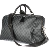 LOUIS VUITTON Damier Graphite Coated Canvas Roadster Duffel Bag