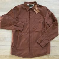 Loro Piana Brown Shirt Jacket Wind Stretch Size XXL Made in Italy