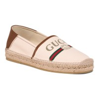 GUCCI Men's Made In Spain Canvas And Leather Espadrille Flats - Slip Ons - Mens Shoes