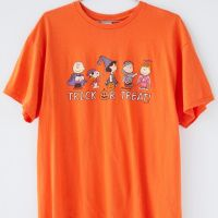 Junk Food Peanuts Trick Or Treat Tee Halloween - Womens T-Shirts