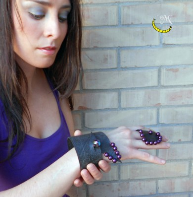Bracciale e anello - camera d'aria - Malice's Craftland - riciclo creativo - artigianato sostenibile italiano