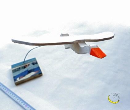 fermacarte fluttuante a forma di gabbiano Malice's Craftland - riciclo creativo - artigianato sostenibile italiano