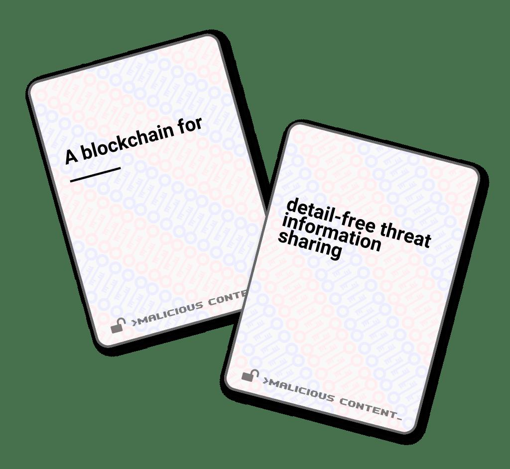 Malicious Content: A card game for infosec dorks