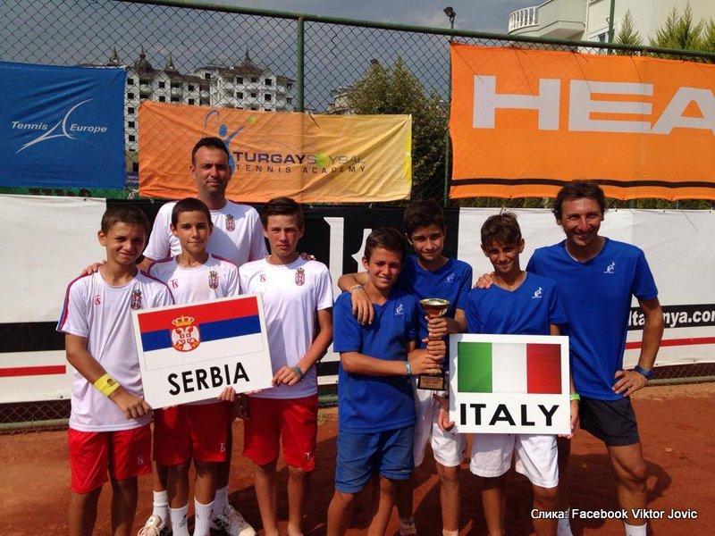 Reprezentacija Srbije do 12 godina osvojila drugo mesto na nezvaničnom prvenstvu Evrope u Alanji