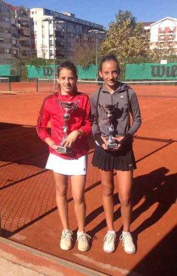 Ksenija Tmušić i Elena Milovanović, teniski klub Tennis Point Čačak