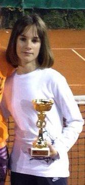 Natalija Senić, prvo mesto na Mastersu Teniskog saveza Šumadije i Zapadne Srbije do 12 godina za 2014