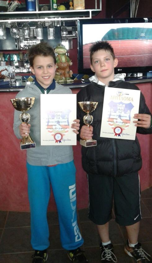 Bojan Radoman i Vanja Vojinović, finalisti Otvorenog prvenstva Beograda do 14 godina, Teniski klub Master