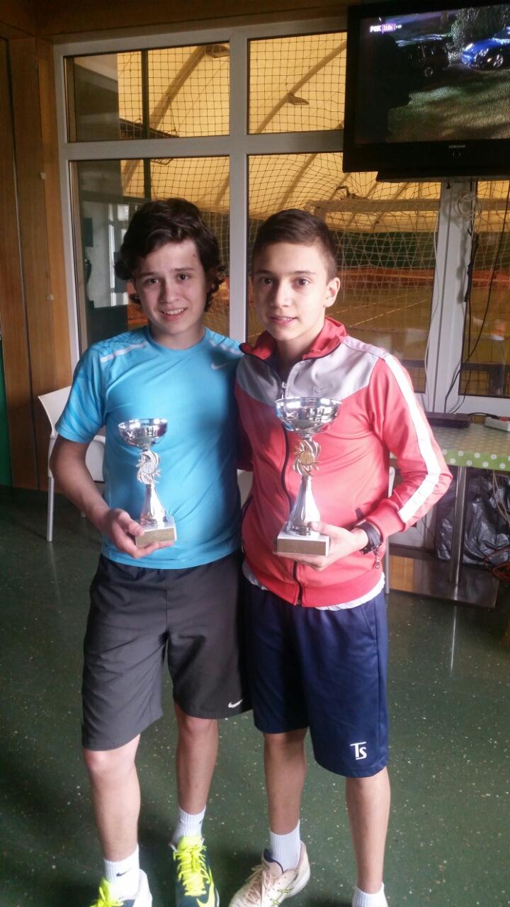Boris Stojanović i Lazar Milićević, finalisti, Otvoreno prvenstvo Čačka do 14 godina, Teniski klub Tennis Point