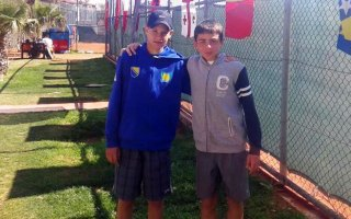 Vanja Dobrnjac i Sergios Kyzas, finalisti TE U14 turnira u Antaliji