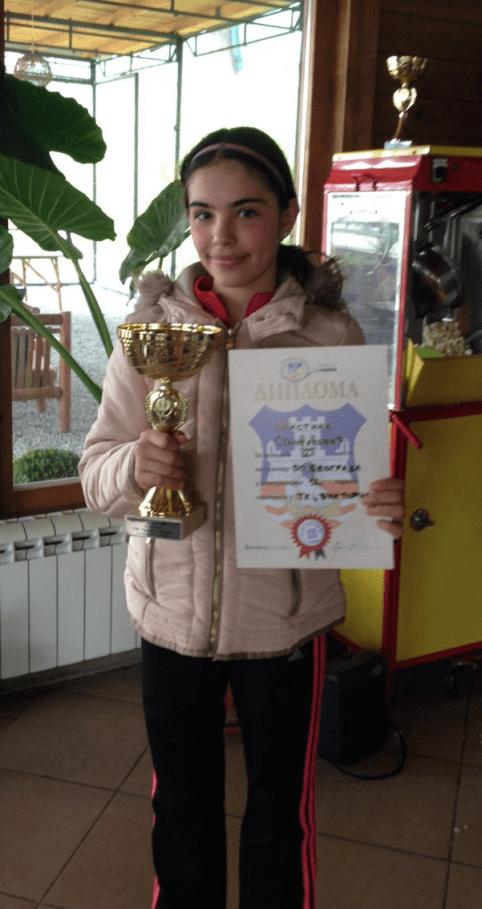 Kristina Stamenković, pobednica, Otvoreno prvenstvo Beograda do 12 godina, Teniski klub Victoria