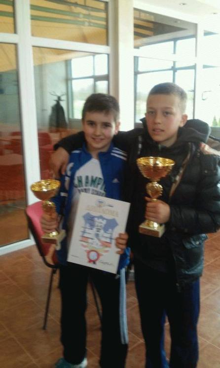 Mihajlo Lasica i Luka Jovanović, finalisti, Otvoreno prvenstvo Beograda do 12 godina, Teniski klub Spin