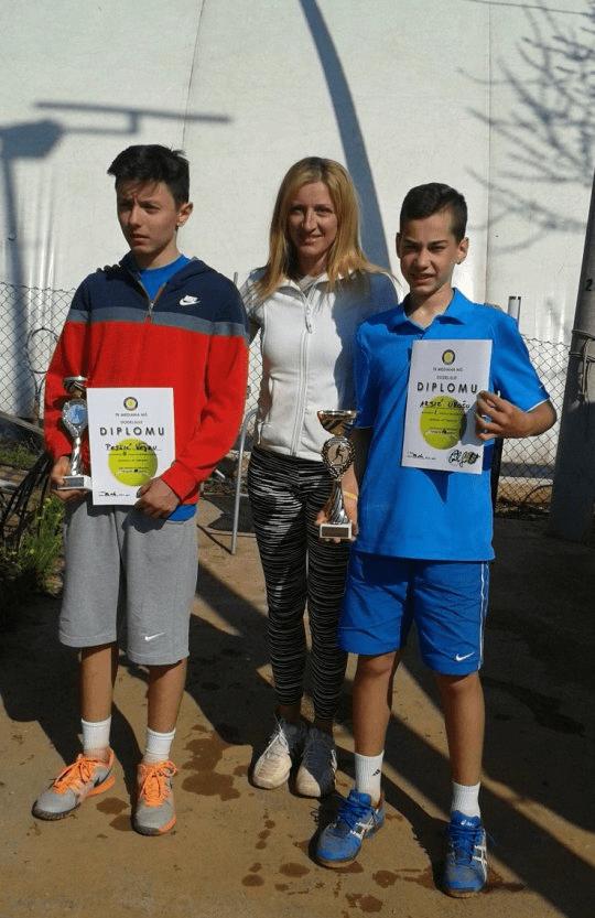 Veljko Pejčić i Uroš Arsić, finalisti, Prvenstvo istočne Srbije, Teniski klub Mediana