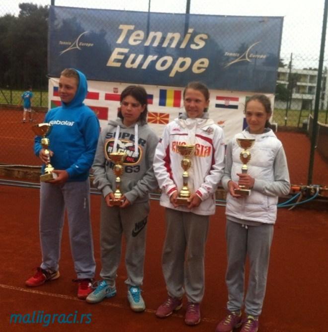 Hamad Međedović, Stefan Popović, Oksana Selekhmeteva i Maria Dzemeshkevich, Bellevue Cup 2015 Ulcinj, Tennis Europe