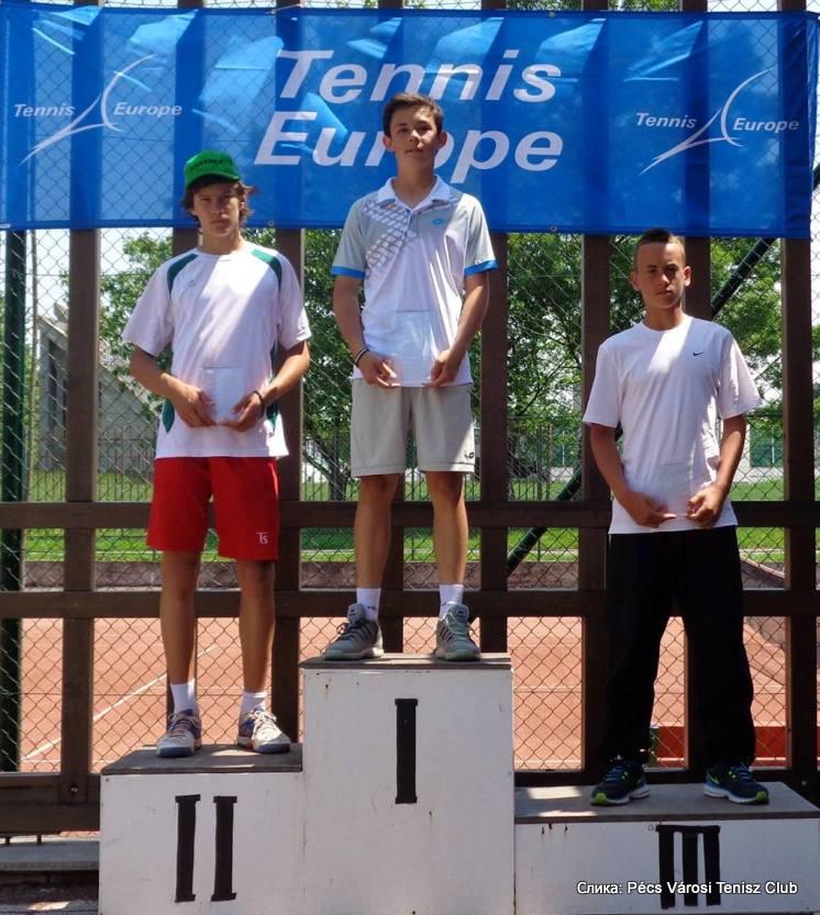 Nemanja Subanović, Peter Sallay, Peter Makk, Pécs Junior Tennis Cup, Tennis Europe Junior Tour