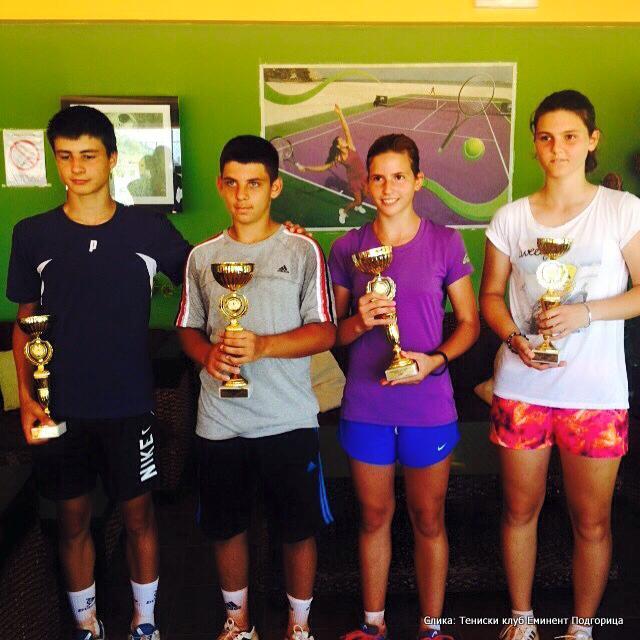 Bodin Aleksić, Igor Dabanović, Andrea Ćetković i Anja Drašković, Državno prvenstvo Crne Gore do 16 godina, Teniski klub Eminent Podgorica