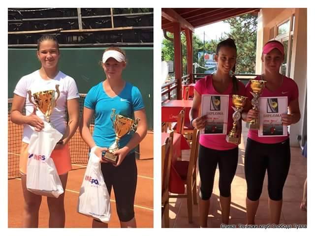 Iva Zelić i Laura Tomić, Memorijal Goran Tanovic 2015 Tuzla, Tennis Europe Junior Tour U14