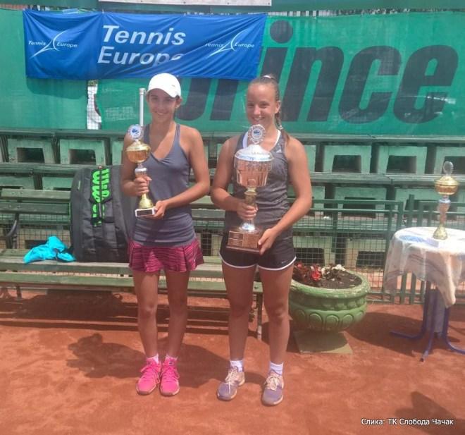 Maria Raluca Tudorache, Mihaela Đaković, Cacak Open 2015 U14, Tennis Europe Junior Tour, Teniski klub Sloboda Čačak