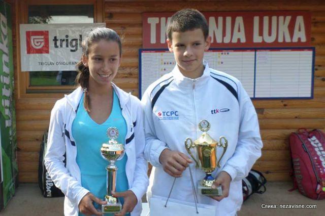 Milica Bojić i Vanja Dobrnjac, Memorijal Goran Tanovic 2015 Tuzla, Tennis Europe Junior Tour U14