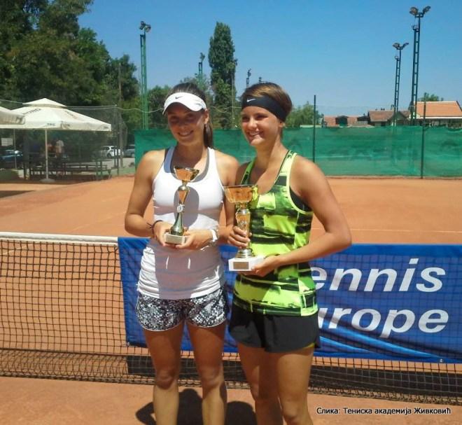 Andrijana Stoilković, Aleksandra Stanković, Niš Open 2015 U16, Tennis Europe Junior Tour, Teniska akademija Živković Niš
