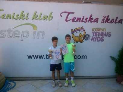 Luka Zdravković, Nikola Jovanović, Otvoreno prvenstvo Beograda u tenisu do 12 godina, Teniski klub Step In Beograd