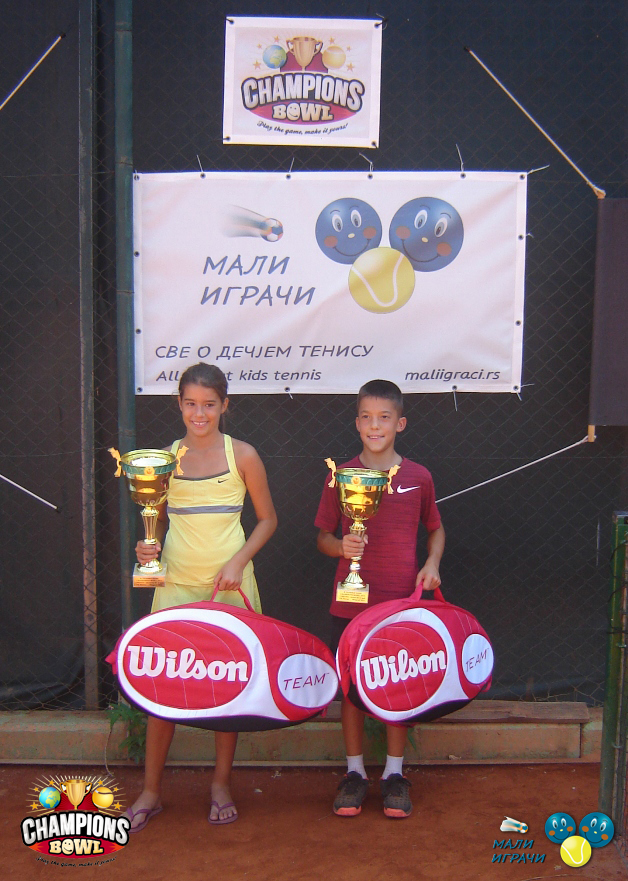 Anja Petković, Luka Rupnjak, 8. teniske nade do 11 godina, Champions Bowl 2015, Teniski klub Haron Beograd