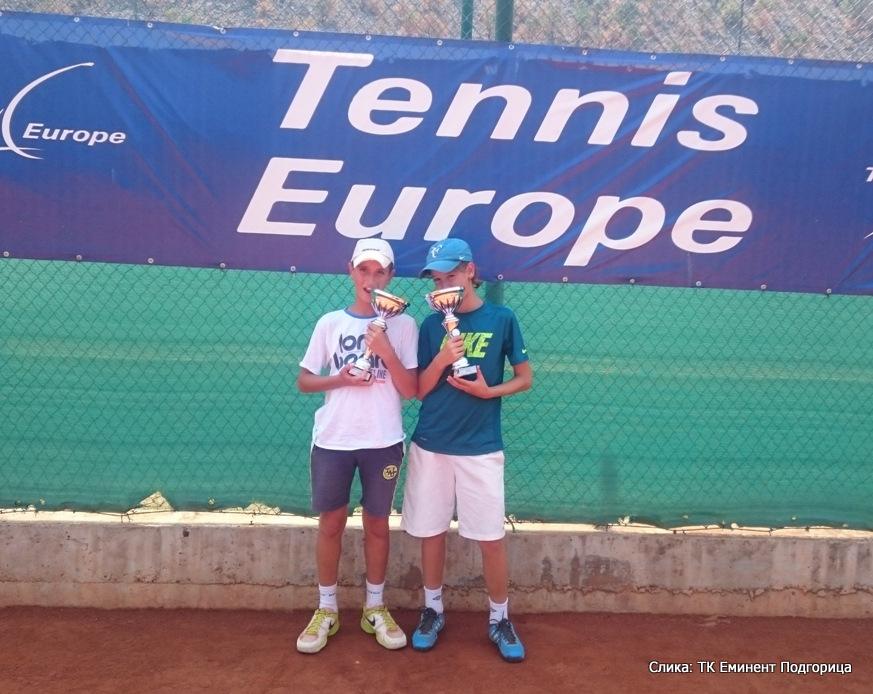 Sava Radović, Vuk Vuksanović, Eminent Open U14, Teniski klub Eminent Podgorica, Tennis Europe Junior Tour