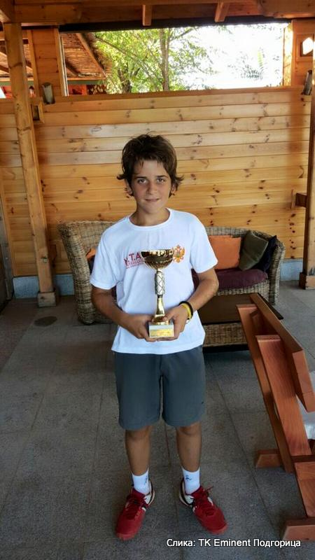 Danilo Raičević, Eminent kup do 12 godina, Teniski klub Eminent Podgorica