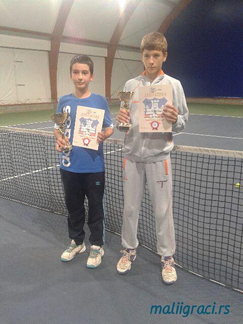 Miro Rakočević, Dušan Trunić, Otvoreno prvenstvo Beograda do 14 godina, Teniski klub Marina Oasa
