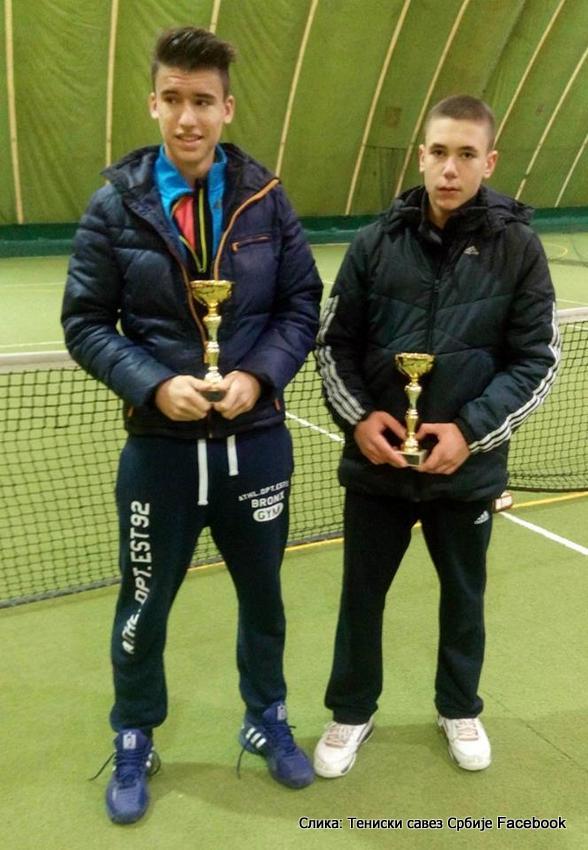 Stefan Kalafatić, Miloš Vuković, Dvoransko prvenstvo Srbije u tenisu do 16 godina, TK 3D Subotica