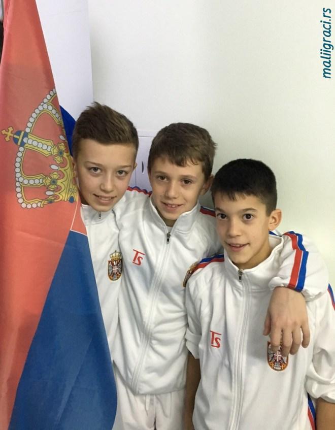 Luka Jovanović, Luka Rupnjak, Nikola Zekić, Tennis Europe Winter Cups by HEAD