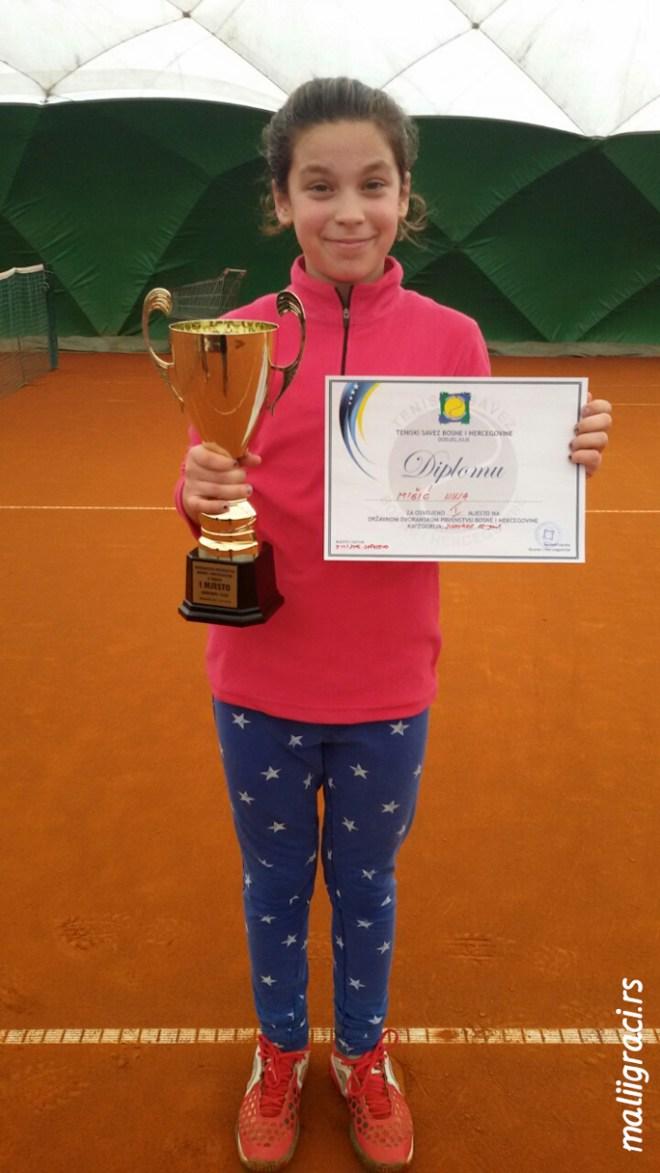 Nina Mišić, Državno dvoransko prvenstvo Bosne i Hercegovine do 12 godina, Tenis Head akademija Sarajevo