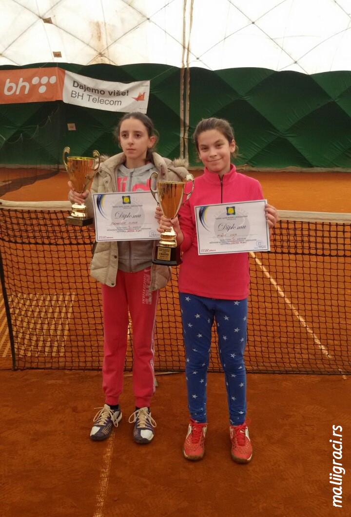 Nina Mišić, Suana Tucaković, Državno dvoransko prvenstvo Bosne i Hercegovine do 12 godina, Tenis Head akademija Sarajevo