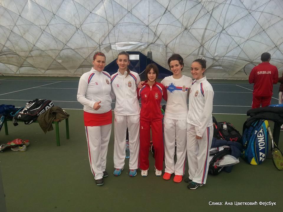 Anđela Vidović, Iva Pantović, Natalija Senić, Milana Vulin, Ana Cvetković, Tennis Europe Winter Cups by HEAD