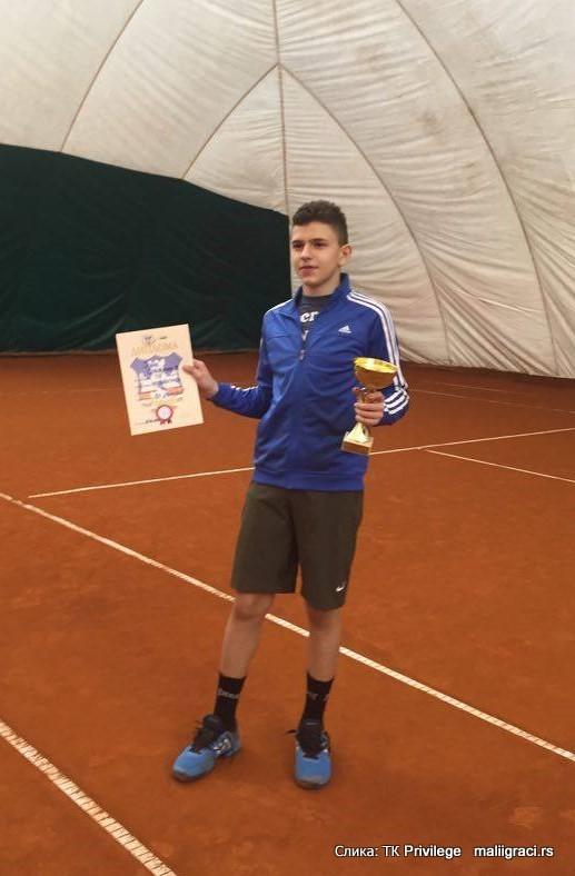 Jovan Slijepčević, Otvoreno prvenstvo Beograda do 14 godina, Teniski klub Privilege Beograd