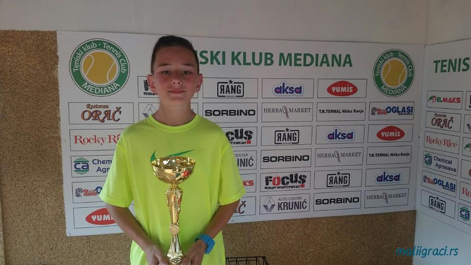 Nemanja Dinić, Prvenstvo istočne Srbije do 12 godina, Teniska akademija Živković Niš