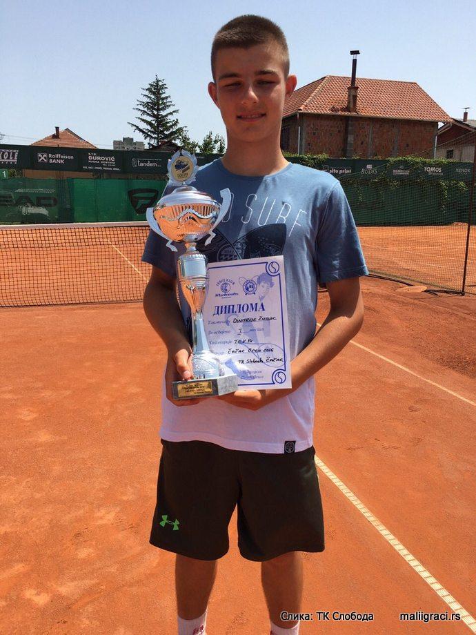 Dimitrije Zubac, Cacak Open 2016 U14 Čačak, Tennis Europe Junior Tour, Teniski klub Sloboda Čačak