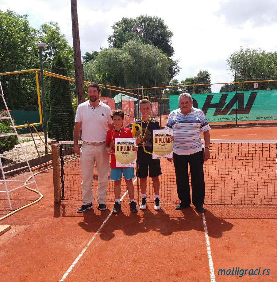 Luka Jovanović, Alin Mihai Fatu, HAI Cup U12 Arad Romania, Tennis Europe Junior Tour