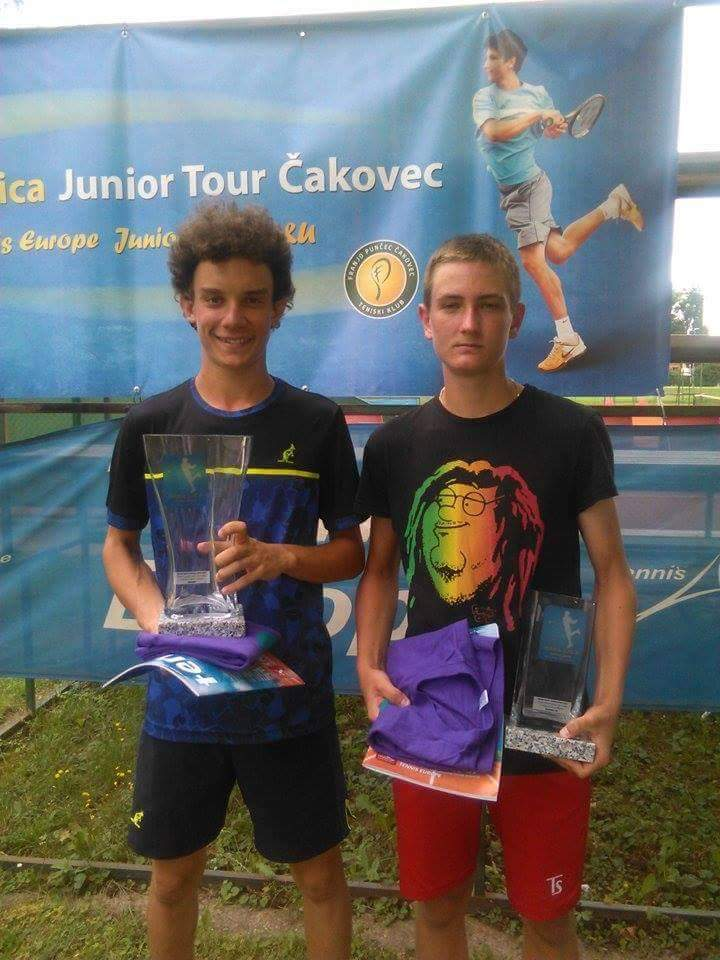 Kristian Juhas, Filippo Speziali, Marin Šuica Junior Open Čakovec U16, Teniski klub Franjo Punčec Čakovec, Tennis Europe Junior Tour