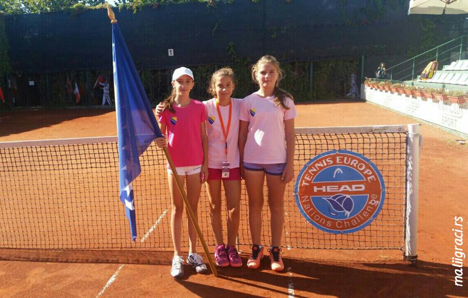 Jovana Đurić, Suana Tucaković, Nina Mišić, Tennis Europe Nations Challenge by Head U12, Tennis Europe Junior Tour