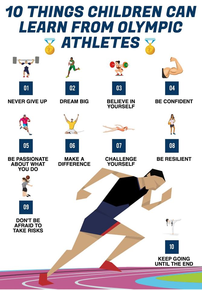 10 things children can learn from Olympic athletes, 10 stvari koje deca mogu da nauče od olimpijaca