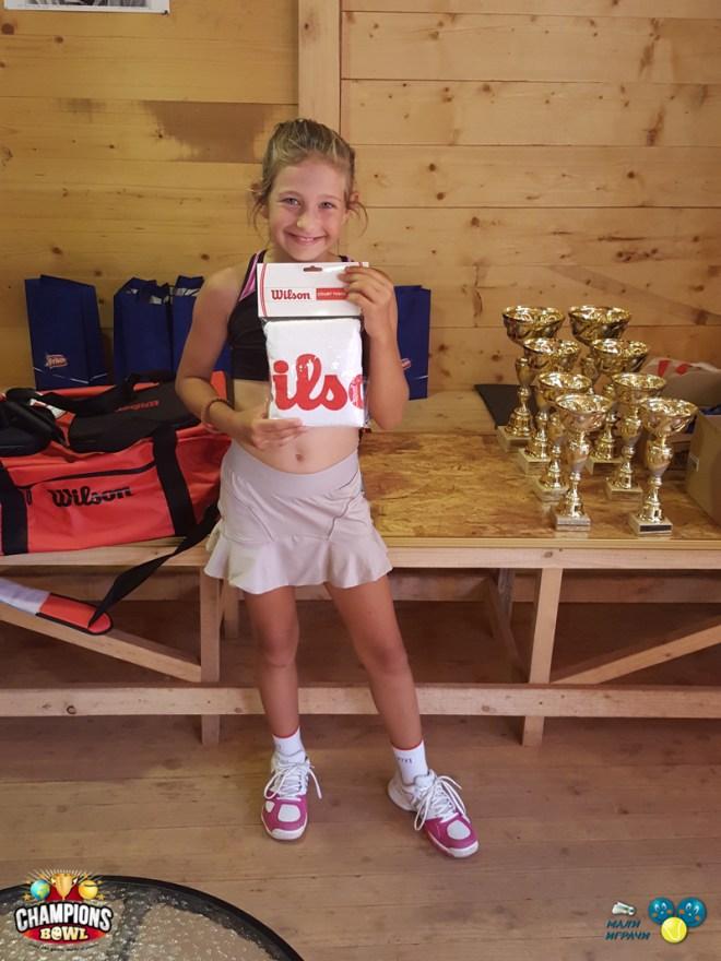 Mia Ristić, 9. teniske nade, Champions Bowl 2016, Teniski klub Haron Beograd, Moje pripreme za teniske nade