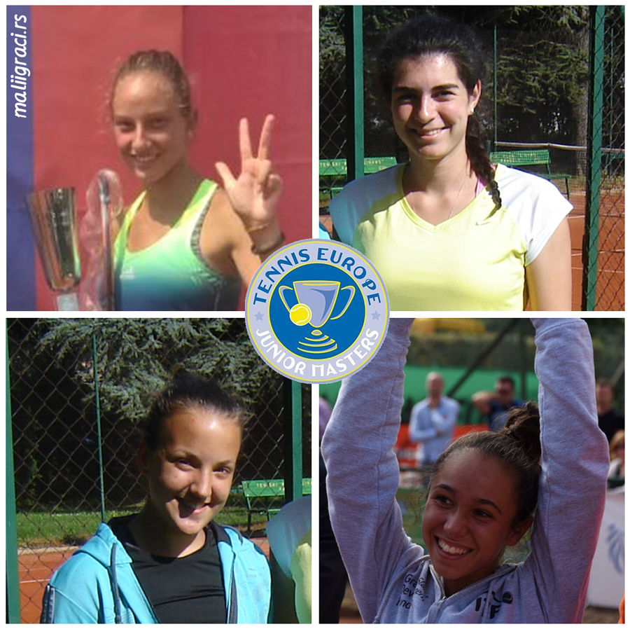 Elena Milovanović, Tamara Malešević, Mihaela Đaković, Fracesca Curmi, Tennis Europe Junior Masters