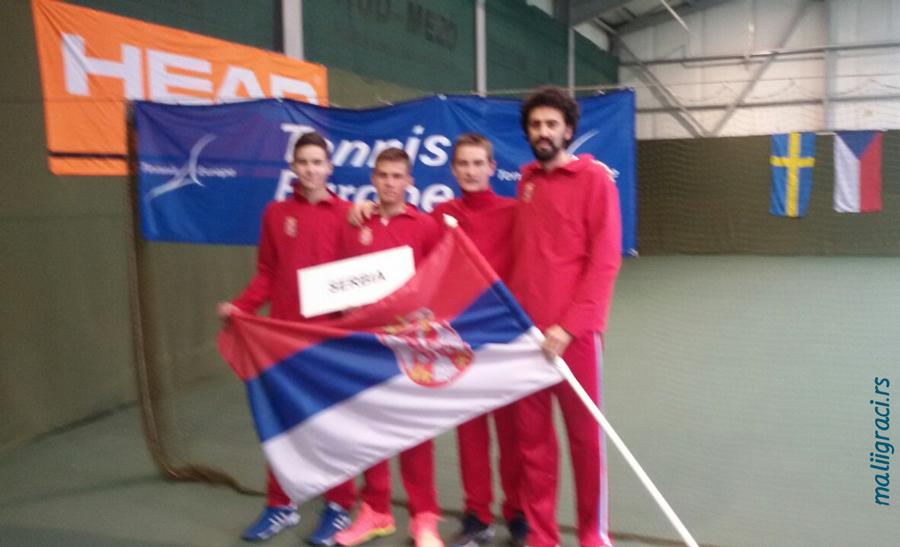 Kristian Juhas, Viktor Jović, Goran Životić, Marko Savić, Tennis Europe Winter Cups by HEAD U16, Serbia, Hodmezovasarhely, Hungary