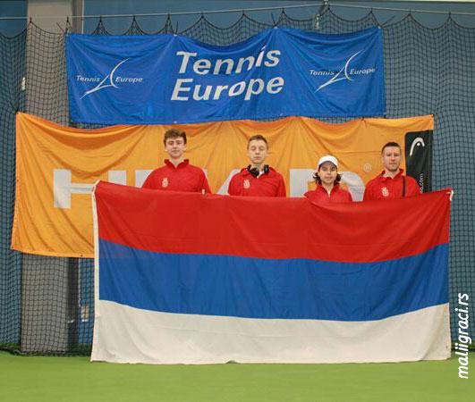 Oliver Sabo Rac, Hamad Međedović, Stefan Popović, Vanja Vidojković, Tennis Europe Winter Cups by HEAD U14, Serbia, Karlsrona, Sweden