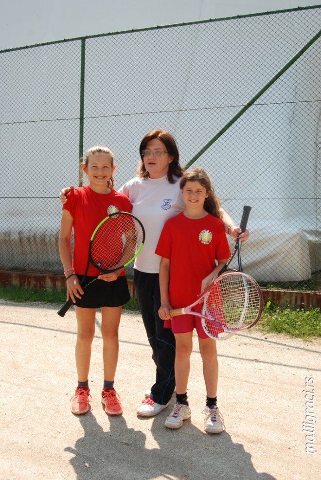 Mia Ristić, Jana Radojković, Bosiljka Kostić, Teniski klub Bor